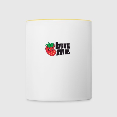 Fruit / Fruit: Strawberry - Bite Me - Contrasting Mug