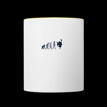 Abitur Evolution of Woman Universum - Tasse zweifarbig