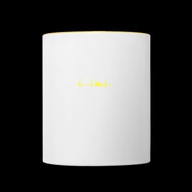 ECG HEATING SWIMMER Yellow - Contrasting Mug