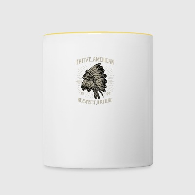 Native American 1 2 - Tasse bicolore