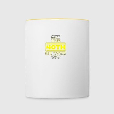 40th Birthday, May The 40th Be With You B-day Gift - Contrasting Mug