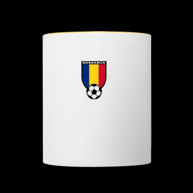Roumanie Football - Mug contrasté