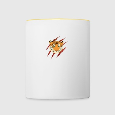 Wild animal tiger danger - Contrasting Mug