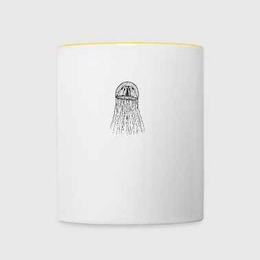 Qualle Illustration - Tasse zweifarbig
