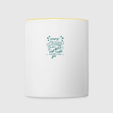 Surprise baby birth 2018 Big sister - Contrasting Mug