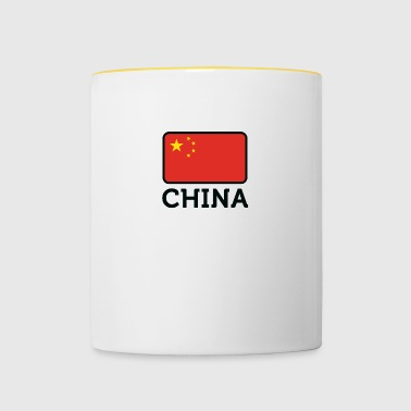 Drapeau national de Chine - Mug contrasté