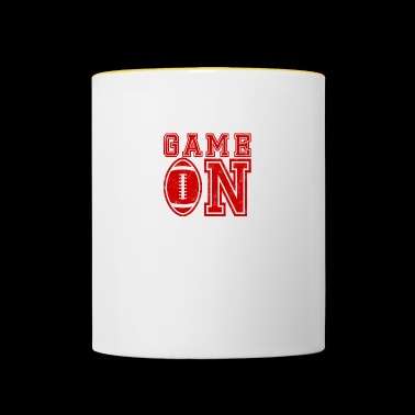 Super Bowl / Football: Game On - Contrasting Mug