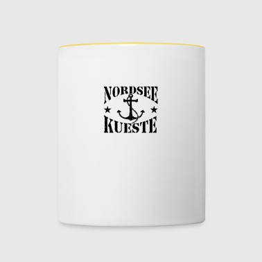 North Sea coast - stenlogo_Anker_black - Contrasting Mug