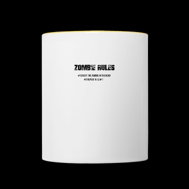 Zombie: Zombie Rules - # 1 The Zombie In The - Contrasting Mug