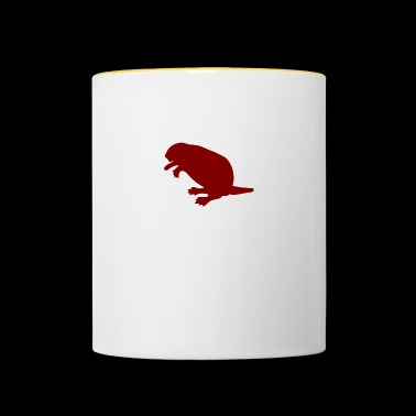 animal animales roedor roedores water7 madera - Taza en dos colores
