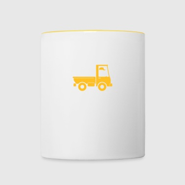 A Pickup Truck Drives To A Warehouse - Contrasting Mug