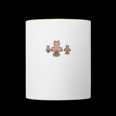 animales roedores animales roedores agua madera, 13 - Taza en dos colores