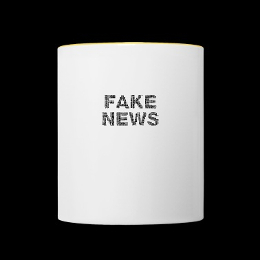 fake nieuws abstract - Mok tweekleurig