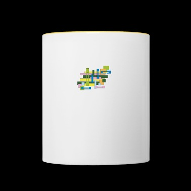 abstract full and empty rectangles - Contrasting Mug