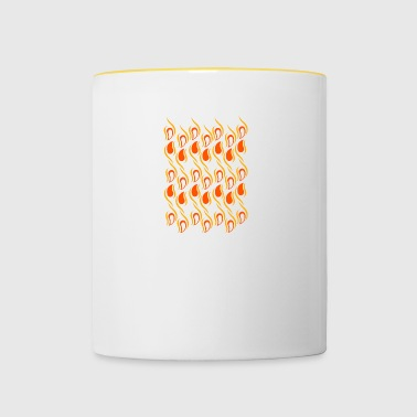 abstract orange drops - Contrasting Mug