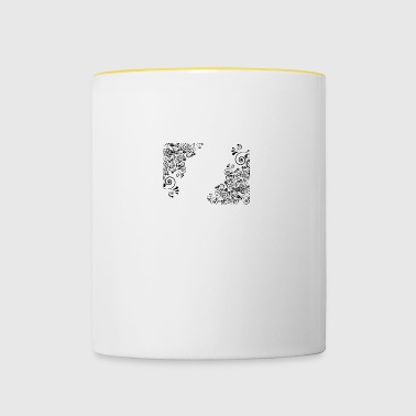Flowers Decorative - Contrasting Mug