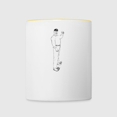 cricket player spieler sports sport6 - Tasse zweifarbig