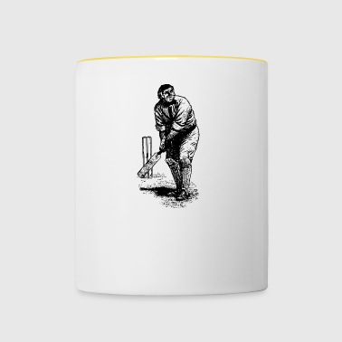 cricket player spieler sports sport4 - Tasse zweifarbig