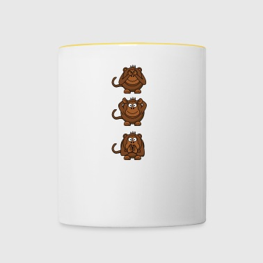 monkey faces - Contrasting Mug