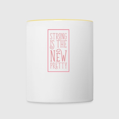Strong is the new pretty - Contrasting Mug