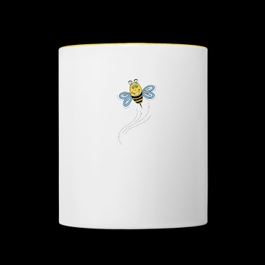 Bee in flight - Contrasting Mug