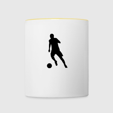 Striker au dribble - Mug contrasté
