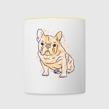Français or cadeau bouledogue Frenchie Hund - Tasse bicolore