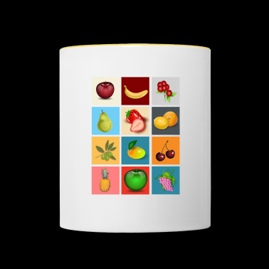 fruits - Mug contrasté