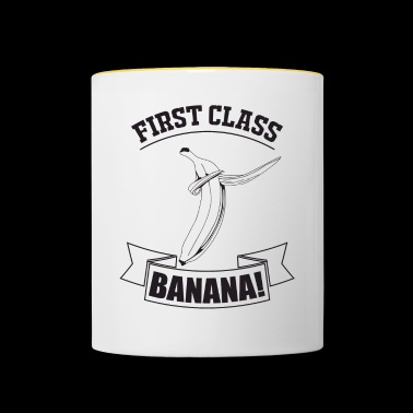 Statement: First class Banana - Contrasting Mug