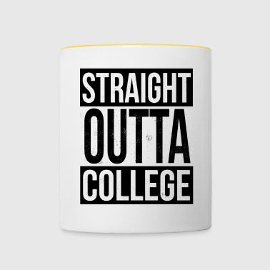 Straight Outta College - Kaksivärinen muki
