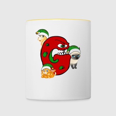 Cat Grinch Gang Natale - Tazze bicolor