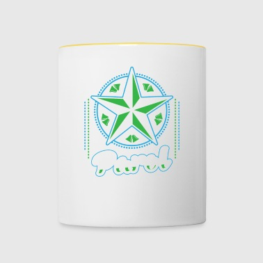 Parol Ornamental Star Christmas Lantern Filipino - Contrasting Mug