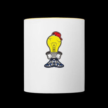 L'ampoule intelligente. Cool, intelligent et intelligent! - Mug contrasté