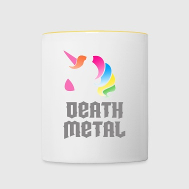 Death Metal Unicorn - Tasse zweifarbig