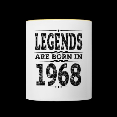 Legends is Geboren 1968 50th Birthday Gift - Mok tweekleurig