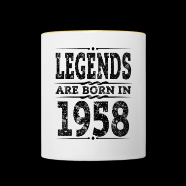 Legends is Geboren 1958 de 60ste Gift - Mok tweekleurig