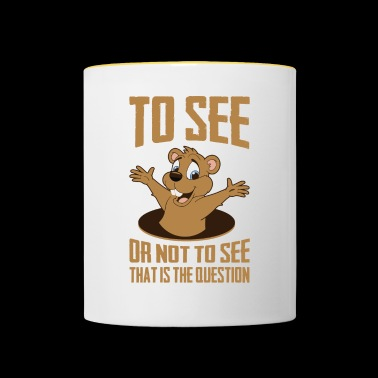 That Is The Question, Ground-Hog Woodchuck - Contrasting Mug