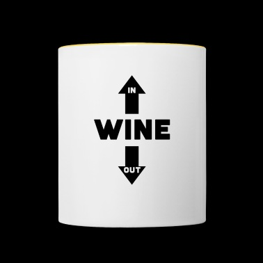 Wine In Wine Out Wine Pure Wine Out - Contrasting Mug