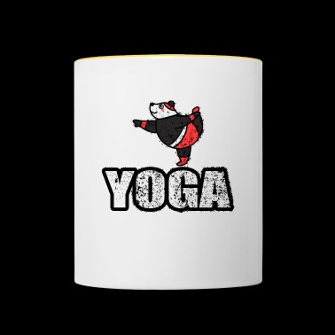 Yoga Dancing Bear Vintage Retro New Age - Mug contrasté