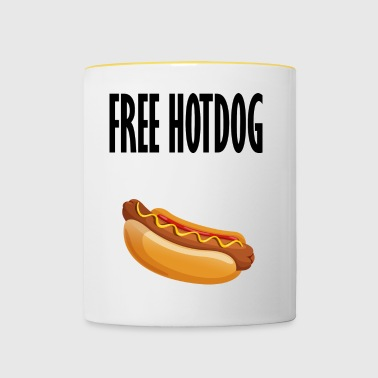 hot-dog gratuit - Tasse bicolore