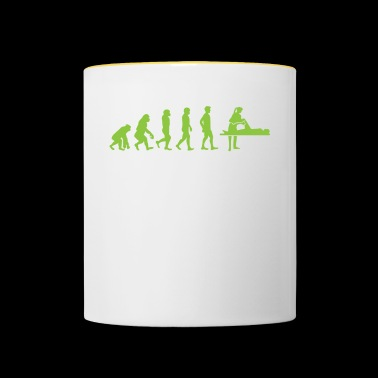 Evolution - Physiotherapist - Funny - Gift - Contrasting Mug
