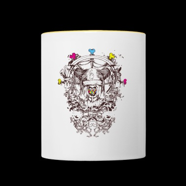 Abstract art - mythical creature - Contrasting Mug
