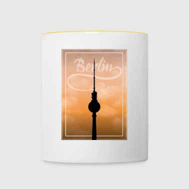 Silhouette Berlin TV Tower Gift Holiday BLN - Contrasting Mug