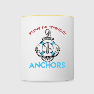 Anchor - Zeilen - boot - Gift - Mok tweekleurig