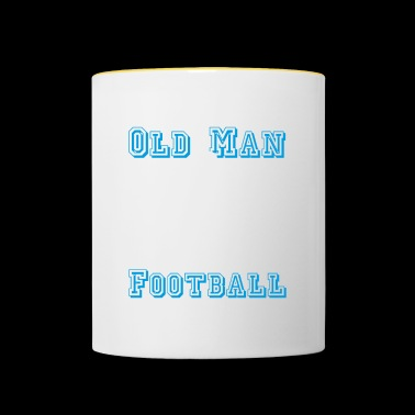 Old soccer player T-shirt soccer farewell - Contrasting Mug
