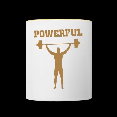 powerful - Contrasting Mug