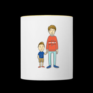 Son and Dad - son with dad - Contrasting Mug