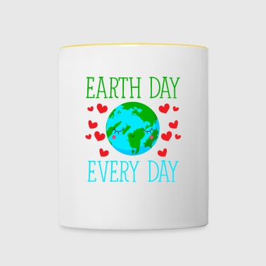 Earth Day Every Day - Tasse zweifarbig