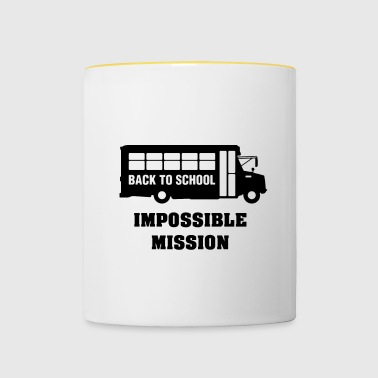 Back to school, impossible mission - Contrasting Mug