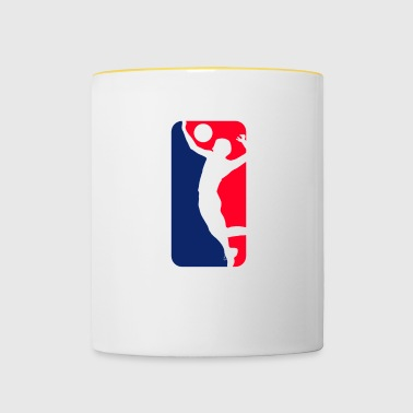 Volleyball blue red white streetwear - Contrasting Mug